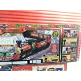 Holiday Santa Express Christmas Train Set, 35 PIECE SET, REMOTE CONTROL RADIO TRANSMITTER OVER 20 FEET OF TRACKS 37290