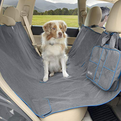 Kurgo Heather Dog Hammock – Pet Seat Cover – Waterproof & Stain Resistant