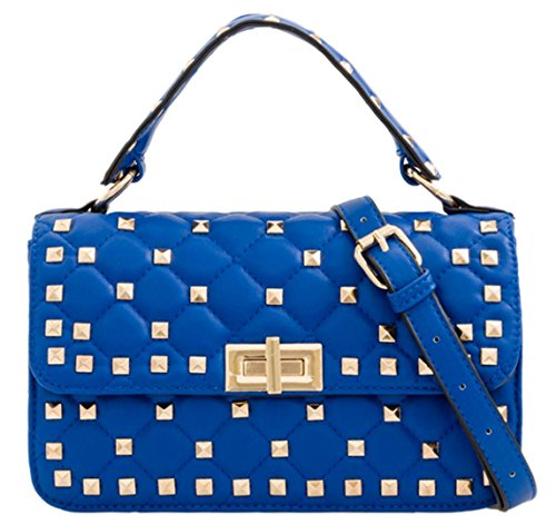 Mini Girly Girly Girly Blue HandBags Blue Satchel Royal Mini Satchel Royal Quilted Quilted HandBags x4A6BCq