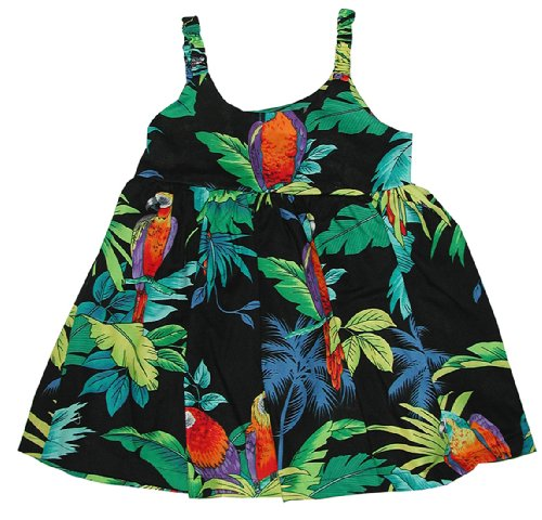 [RJC Girls Jungle Parrot Bungee Dress 2pc Set Black 12 Months] (Jungle Outfit)