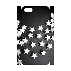 3D Bumper Plastic Customized Case Of Star for iPhone 5,5S
