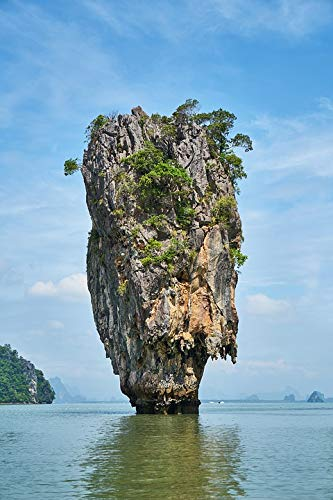 Home Comforts Framed Art for Your Wall Phang NGA Bay James Bond Island Phuket Province Vivid Imagery 10 x 13 Frame