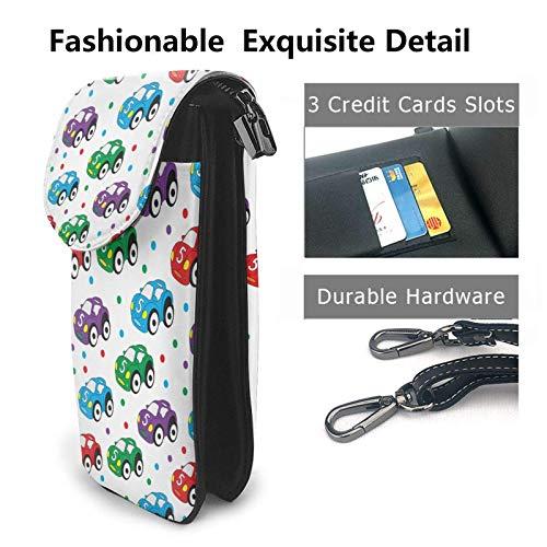 HYJUK Mobiltelefon crossbody väska barn leksak bil kvinnor PU-läder mode handväska med justerbar rem