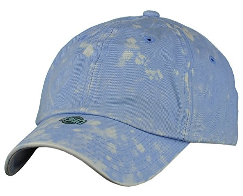 NYFASHION101 Unisex Adjustable 6-Panel Low-Profile Baseball Cap LOW100- Tie Dye Sky Blue (Sky Tie Dye Blue)