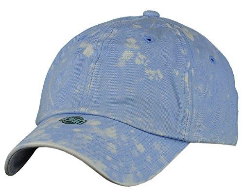 NYFASHION101 Unisex Adjustable 6-Panel Low-Profile Baseball Cap LOW100- Tie Dye Sky Blue (Sky Tie Blue Dye)