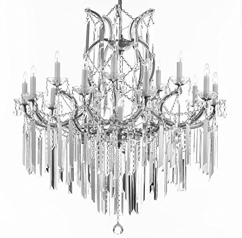 Maria Theresa Chandelier Empress Crystal ™ Lighting Chandeliers with Optical Quality Fringe Prisms! H38″ X W37″