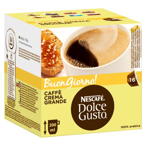 Nescafe Dolce Gusto Caffe Crema Grande 16 Count (Pack of 2) direct import from Germany