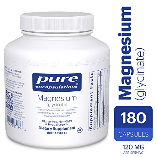 Pure Encapsulations - Magnesium (Glycinate) - Supports Enzymatic and Physiological Functions* - 180 Capsules (Caps 90 Formula Stress)