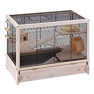 Ferplast Jaula de Madera para hámsteres HAMSTERVILLE, Casa para ratoncillos y pequeños roedores, Estructura en Varios…