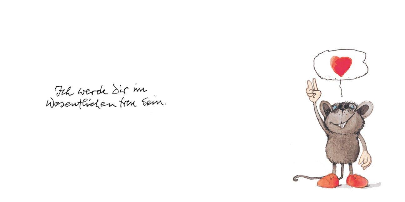 Janosch Postkarte Liebe Dich so bestialisch