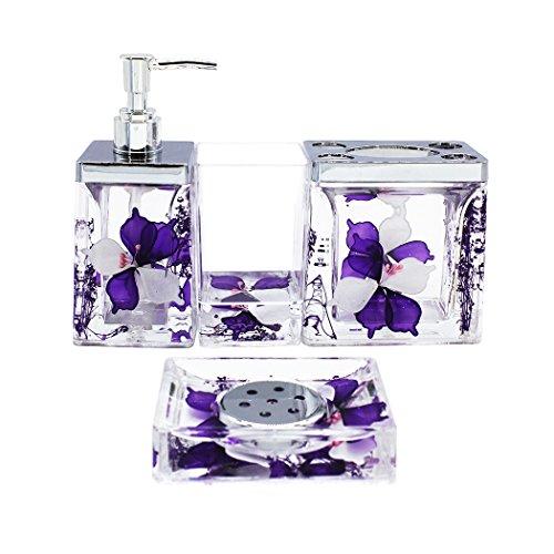 purple bathroom soap dispenser - 8