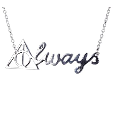 Harry Potter And The Deathly Hallows Always Print Pendant Necklace