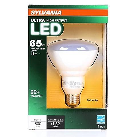 Sylvania Ultra 11-Watt (65W Equivalent) 2,700K BR30 Medium Base (E-26) Soft White Dimmable Indoor LED Flood Light Bulb! (Sylvania 2700k Led)