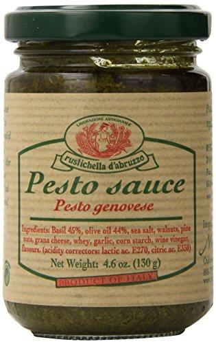 Rustichella D' Abruzzo Pesto Alla Genovese Sauce, 4.6 Fluid Ounce Green Pesto Pasta