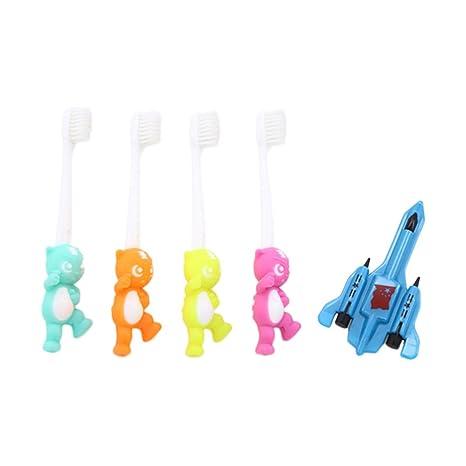 manyo 1 Set Baby Cepillo de dientes suave Avión juguete dibujos animados niño niño recién nacido