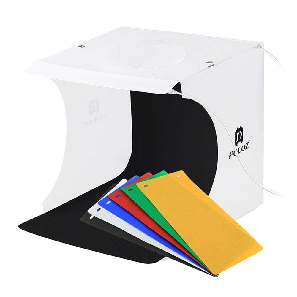 22 x 23 x 24cm Mini Photography Tent Kit UMIWE Plegable Port/átil Tablero de Fotos Accesorio Difusor Luz Suave Iluminaci/ón Caja de Fotograf/í con LED /& 6 Colores Backfrops