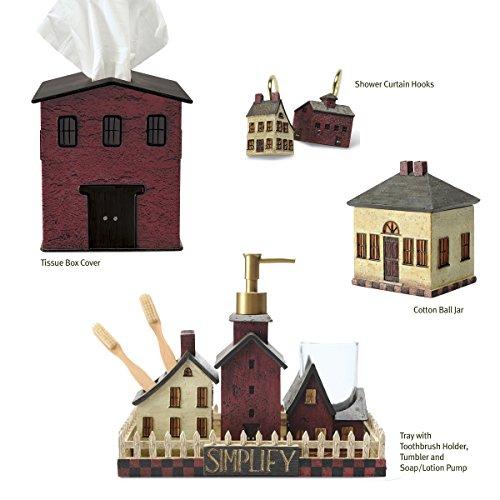 Saltbox House Bath Accessory Set, Simplify by Blonder Home, Seven Piece Set