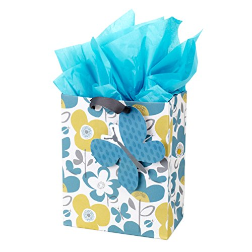 Hallmark Medium Gift Bag with Tissue Paper (Flowers and Butterflies)