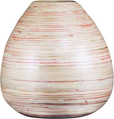 Bamboo Vase Centerpiece - Wood Grain Design, 10.25