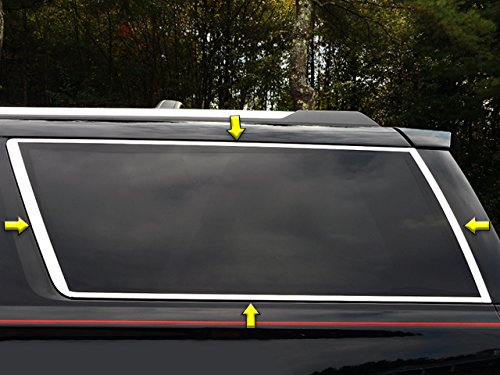 - QAA FITS Yukon 2015-2019 GMC (8 Pc: Stainless Steel Window Trim Package w/Upper Trim, Lower Trim & Pillar Trim, 2-Door) WP55198