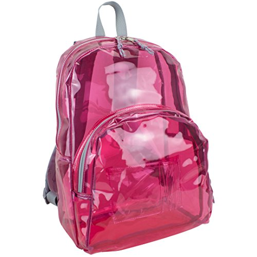 eastsport-girls-clear-backpack-tinted-pink-one-size