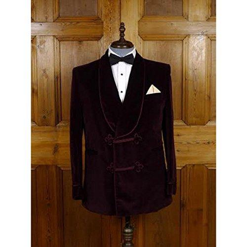 Rajgharana Exports Mens Designer Velvet Smoking Blazer Luxury Dinner Suit