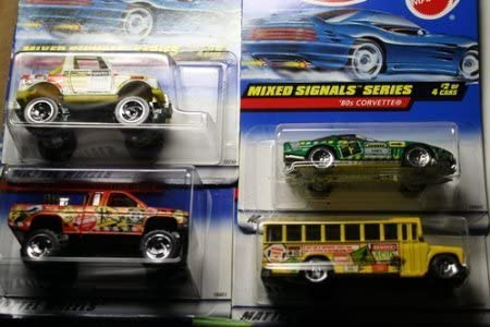 Orange #34 Mixed Signals 1998 Hot Wheels Nissan Truck Collector #735**Very Popular!!