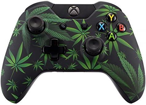 eXtremeRate Carcasa para Mando Xbox One Standard Accesorios Protectora Tacto Suave Placa Frontal Funda Delantera Kit de reemplazo Cubierta Shell para Controlador de Xbox One Original(Hojas Verdes): Amazon.es: Electrónica