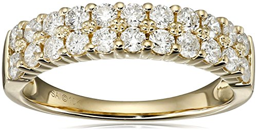 10k Yellow Gold Diamond Band Ring (1cttw, I-J Color, I2-I3 Clarity), Size 7