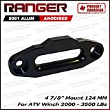 "Ranger ATV Aluminum Hawse Fairlead 2000-3500 LBs ATV Winch 4 7/8"" (124MM) Mount Ultranger Glossy (Black)"