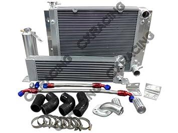 cxracing Temperatura de aceite Radiador duro Tubo Kit para Mazda RX7 RX-7 sa Fa Fb 13B negro manguera: Amazon.es: Coche y moto