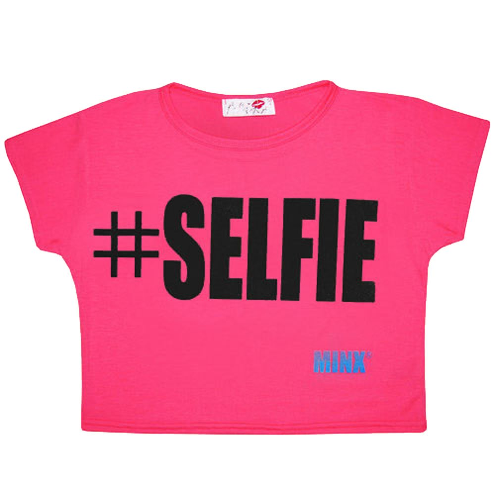 New Kids Girls #Hashtag Crop Top Short Sleeve T-Shirt Age 7-13 Years