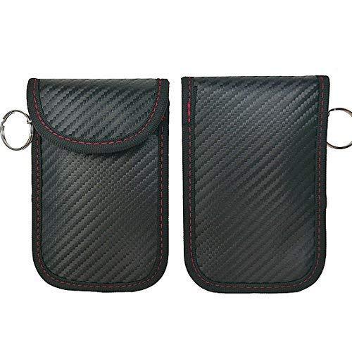 LEOKE LK-001 Antitheft Lock devices,Car Key Protector WiFi//GSM//LTE//NFC//RF Blocker Car Key Signal Blocker Case,faraday key fob protector Black