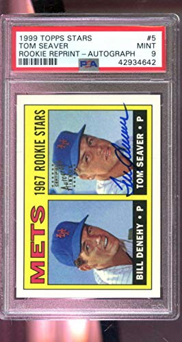 1999 Topps Stars Rookie RP Tom Seaver Autograph AUTO Graded Baseball Card 9 - PSA/DNA Certified - Baseball Slabbed Autographed Cards ()