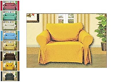 Luxury Woven Linen Designed Sofa Slipcover, 1-Piece Polyester Couch Throw Full Cover, All Sizes, Large Sofa, Sofa, Love Seat, Chair,, Multi Color Selection