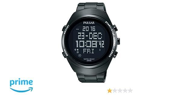 Pulsar Reloj Digital Analógico Unisex con Correa de Chapado En Acero Inoxidable - PQ2057X1: Amazon.es: Relojes