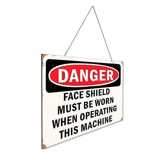 Danger Face Shield Must Be Worn When Opera G This Machine ...
