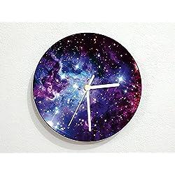 Galaxy - Nebula - Stars Space Universe - Galactic Systems - Planets - Custom Name Wall Clock 5