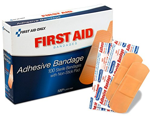 (PhysiciansCare by First Aid Only by First Aid Only First Aid Plastic Bandages, Box of 100, 1