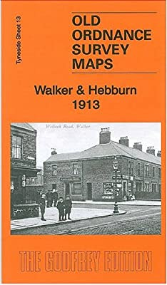 Old Ordnance Survey Maps Walker /& Hebburn Tyneside 1914 Godfrey Edition