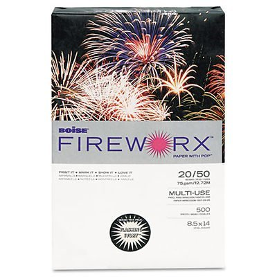 Boise MP2204IY - Fireworx Colored Paper, 20lb, 8-1/2 x 14, Flashing Ivory, 500 Sheets/Ream-CASMP2204IY by Boise