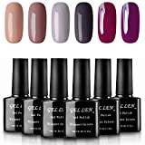 #1: Gellen UV LED Gel Nail Polish Pure Nude Collection - Pack of 6 Colors Gift Box, 10ml Each