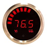 VEI Systems 90 PSI hi-res digital vacuum-boost gauge with internal sensor (red/silver)