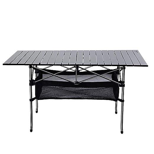 ANFAY Mesa de Camping Mesa rodante 120 * 55 * 65 cm Mesa Plegable ...