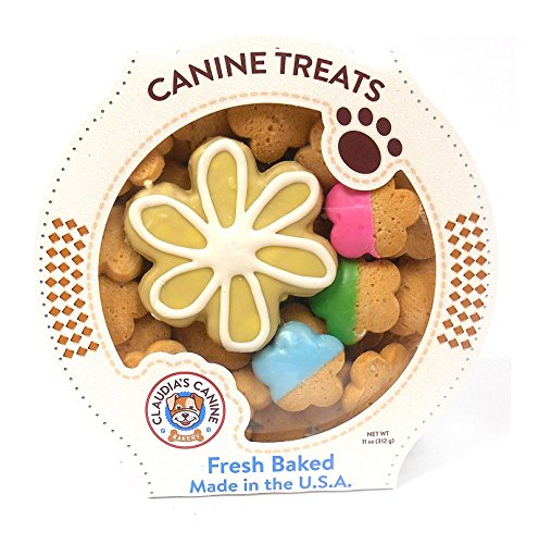 Daisy Delight - Gourmet Peanut Butter Dog Treats by Claudia's Canine Bakery - 11 Ounces (Dipped Gourmet Cookies)