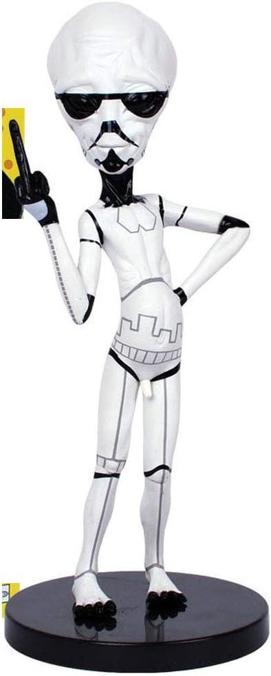 Evil Alien Star Wars White Ice POP Anime Cartoon Vinyl Doll Desktop Statue Decoration PVC Boxed 6.3 Inch Craft Gift
