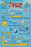 Adventure Time Infographic Maxi Poster