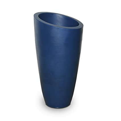 Amazon com: 32 in  Tall Planter in Neptune Blue: Garden