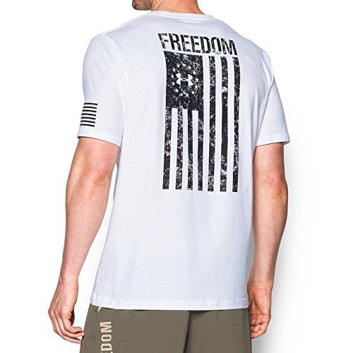Under Armour Men's Freedom Flag T-Shirt, White/Black, Medium