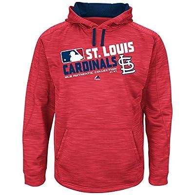 MLB Men's Big and Tall On-Field Team Choice Streak Therma Base Fleece Hoodie (4XL, St. Louis Cardinals)